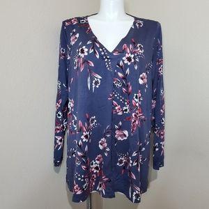 Cupio,Floral top Blouse Size 2Xl